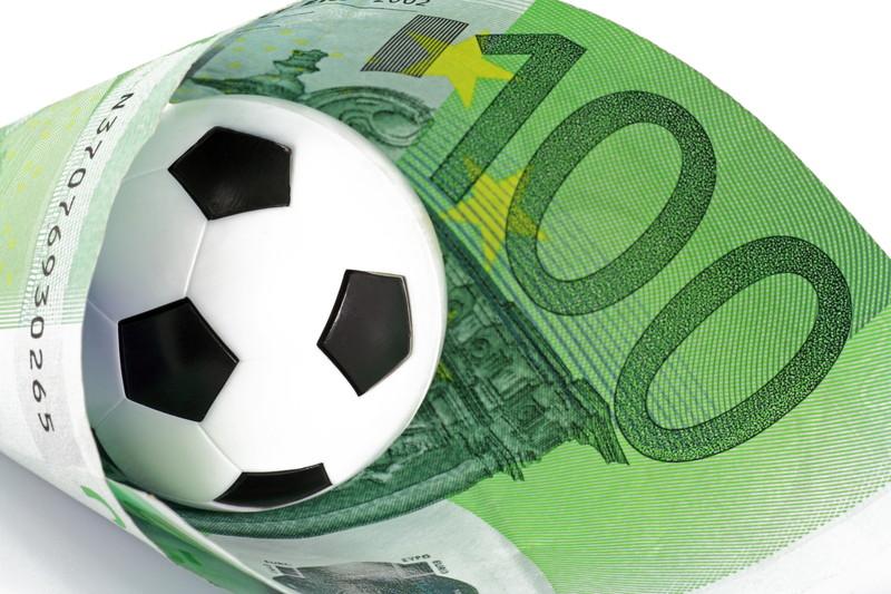 サッカーボール 紙幣